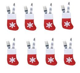 Calza di Natale Portaposate per la tavola Decorazioni per la casa Calze di Natale Regali di Natale Set di posate Coltello Tasche per berretti di protezione Tasca da