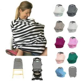 Wholesale Strollers Baby Seats - 20 Colors Baby Stroller Cover Infant Car Seat Covers Ins High Chair Canopy Shoping Cart Cover Nursing Breastfeeding Covers CCA6788 60pcs