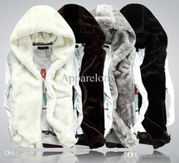 Wholesale Short Leather Jacket Hood - Wholesale-XXXL New2015 Fashion Winter Faux Mink Fur Leather Vest Men Women Couple Sleeveless Waistcoat Vest Sport Casual Hood Jacket D1353