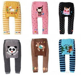 Wholesale Wholesale Cheap Pants - HOt New Cartoon baby Leggings PP Pants Fashion cotton Elastic pants cute Boys Girls Tights Legging Infant Kids Tights Cheap Many Style A6781