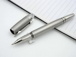 Wholesale Famous Arts - The famous classic Stainless Stripe Roller ball Pen +1 Rollerball Pen Refill