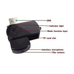 Wholesale Digital Camera Mini Disk - HD 1280 * 960 super Mini U-Disk camera USB 2.0 Ultra HD Mini Spy DV Digital voide Camera 360 Degree Rotate