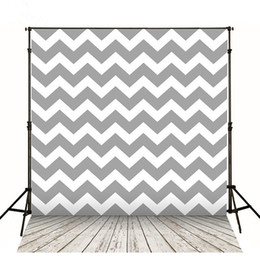 Wholesale Photography Back Drops - Grey Chevron Photography Back Drops Wooden Floor Digital Printed Vinyl Background for Kids Baby Photographic Backdrops Props 5x7ft