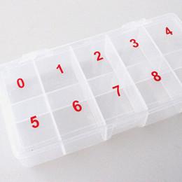 2019 amostra de água livre Atacado-BlueZoo 1pc caixa de treliça Nail Art Rhinestone Gems Decor coleção celular caixa de plástico vazio caixa de armazenamento de acessórios de beleza unhas