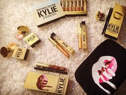 Wholesale Makeup Bag Pcs - Kylie Birthday Makeup Kit 13 pcs set Portable Cosmetic Bag Kylie Jenner LEO Lip Gloss Kit Make Up Suit