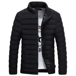 Wholesale Men S Winter Fashion Trends - Wholesale- New Trend Black Winter Jacket Men Doudoune Homme Hiver 2016 Mens Fashion Slim Fit Stand Collar Slim Wave Cut Cotton Down Jacket