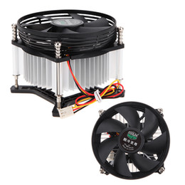 Wholesale Fan Motor Bearings - Wholesale- High Quality 3PIN DC 12V CPU Cooling Cooler PC Ultra Silent Fan For Intel LGA775 with Thermal Fin Copper Motor
