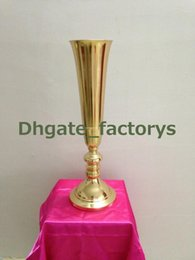 Wholesale Wholesale Iron Flower Stand - mental gold iron wedding table centerpieces withwout the flower and flower vase stand