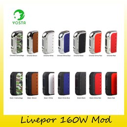 Wholesale ss mod - Authentic Yosta Livepor 160 TC Box Mod 160w with Dry Coil Protection Authentic VW MECH TC-Ni TC-Ti TC-SS TCR Mode 100% Genuine 2243004