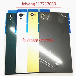 Wholesale Mini Bar House - A quality For Sony Xperia Z5 E6603 E6633 E6653 E6683 Back Glass Battery Door Housing Rear Back Cover Z5 Mini Replacement Spare Parts