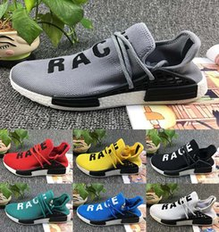 Wholesale People Running - Cheap NMD HUMAN RACE Williams Pharrell x NMD HumanRace People Racing Shoes HumanRace White Yellow Black NMD boost running shoes EUR 36-45