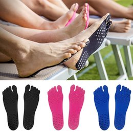 Wholesale Soles For Shoes Wholesale - Nakefit 2017 Prodcut Sticker Shoes Stick on Soles Sticky Pad for Feet Protection Beach Feet Pads 170724