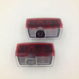 Wholesale Car Wells - 2pcs set well sell no fading color car door projector ghost shadow courtesy car door logo light for mercedes-benz ML,E,A,B,GL,C Class
