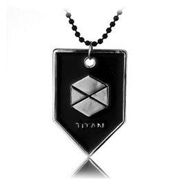 Wholesale fate game - Game Destiny Fate Necklace HUNTER WARLOCK TITAN Letter Logo Alloy Pendant Men Jewelry Fans Gift Charms Souvenir Dropshipping