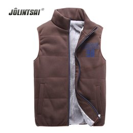 Wholesale Fleece Waistcoats - Wholesale- Autumn Winter Fleece Vest Men 2017 Lover's Custom Colete Plus Size 4XL Mens Warm Vest Sleeveless Waistcoat Coat Gilet Homme