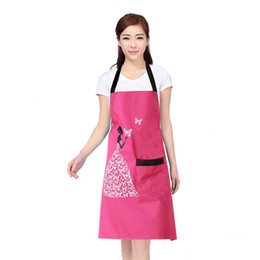 Wholesale Dirty Girl - Free shipping Fashion Creative Butterfly Girl Anti-fouling Prevent Dirty Lady Women Kitchen Bib Apron Delantal Cocina Cleaning Tools YM001