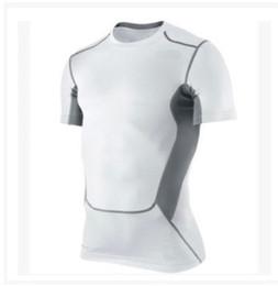 Wholesale V Neck Compression Shirt - Wholesale- 6 Colors Men's Base Layer Compression Shirts Boy's Short Sleeve Top