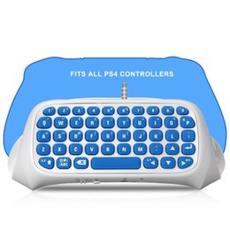 Wholesale Bluetooth Keyboard Gamepad - PS4 Mini Bluetooth Chatpad Keyboard - Keypad Gamepad Joystick Text Messager Chatpad Adapter for Sony Playstation 4 Controller 2017(White)