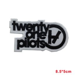 Wholesale music bands - new arrive 21 Twenty One Pilots Iron Sew On Patch Embroidered Music Rock Band