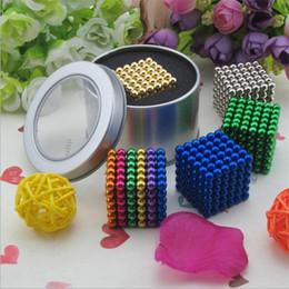 Wholesale Magic Beads Toys - 5mm216 grain neodymium iron boron magic square ball magnetic beads pacquard ball square color block color toys Metal box