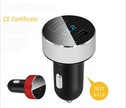 Wholesale Digital Volt Display - Car charger auto charger dual USB3.1 A car charging pressure digital display 12 Volt for Apple iPhone iPad iPod   Samsung Galaxy
