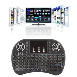 Wholesale Mouse Support - Free Shipping Rii I8 Smart Fly Air Mouse Remote Backlight 2.4GHz Wireless Keyboard Remote Control Touchpad For Android Box MX3 M8S