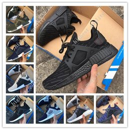 Wholesale Rubber Duck Keychain - New arrival NMD XR1 Duck CAMO BA7232 REAL BOOST Bottom With Nipples NMD_XR1 Camo NMD BA7232 Men Running Shoes Box Receipt Keychain 36-45