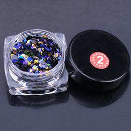 Wholesale Nail Art Mixed Glitter - Wholesale 1g Nail Art Round Decorations New Mini Thin Mixed Colorful 1-3mm Designs Glitter Paillette Nail Art Tips