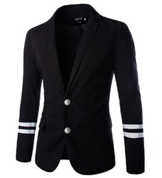 Wholesale Business Men Suit Xxl - Wholesale- 2015 New Fashion casual suits male long sleeve blazer solid business freeshiping suit jackets asian size M-XXL A8773