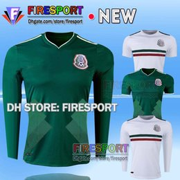 Wholesale Mexico national CHICHARITO home green Long Sleeve G DOS SANTOS R MARQUEZ thailand quality Mexico soccer Jersey football shirt