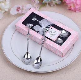 Wholesale Heart Coffee Spoon - Free shipping Love Heart Spoons Coffee Spoon Wedding Favors Wedding Gifts For Guests Wedding Souvenir lembrancinha de casamento