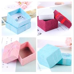 Wholesale Gift Paper Storage - Jewelry Storage Paper Box Multi colors Ring Stud Earring Packaging Gift Box For Jewelry 4*4*3 cm Free Shipping 100pcs lot
