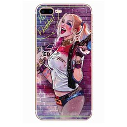 Wholesale United Paints - hot sale 10 models phone case ultra thin United States suicide girls feo colorful painting PC crystal case for iphone 7 7s plus 6 6s plus