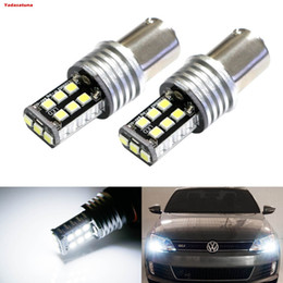 Wholesale P21w Led White Canbus - 1x 2835 15SMD 360 Degree 1156 LED Bulb Backup Lights 7506 1141 P21W 1003 BA15S Canbus LED Reverse Lights Bulb White 6000K