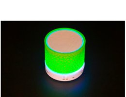 Wholesale Hifi Bluetooth Loudspeaker - 2016 New LED MINI Bluetooth Speaker A9 TF USB FM Wireless Portable Music Sound Box Subwoofer Loudspeakers For phone PC with Mic