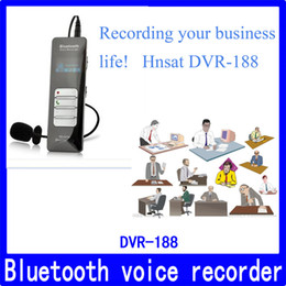 Wholesale Mobile Digital Recorder - Wholesale- 4GB Bluetooth mobile digital voice recorder,gravador de voz digital com microfone externo Hnsat DVR-188
