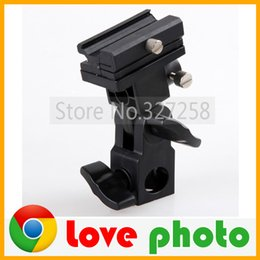 Wholesale umbrella stand adapter - Wholesale-High Quality B Type Universal Mount Flash Hot Shoe Adapter Trigger Umbrella Holder Swivel Light Stand Bracket