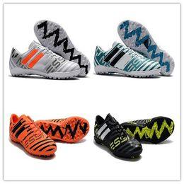 Wholesale Soccer Indoor Shoes Messi - Mens Football Boots NEMEZIZ 17.1 FG Soccer Shoes Tango 17.3 IC TF Messi NEMEZIZ 17 360 Agility Superfly Soccer Cleats