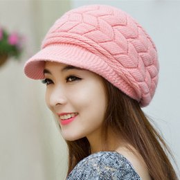 Wholesale Cheap Knitted Hats For Women - Fashion New 2017 Winter Elegent Women Hat Warm Knitted Crochet Slouch Baggy Beret Beanie Hat Cap for women bonnet femme Cheap
