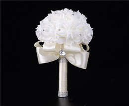 Wholesale High End Bridal Bouquets - Bridal hand holding flowers wholesale high - end wedding bubble simulation bouquet European - style wedding wedding with flowers