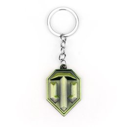 Wholesale Wholesale Antiques Online - Free Shipping Online Game World Of Tanks WOT Metal Keychains Pendent Gift For Fashionable Men And Women Cool Jewelry