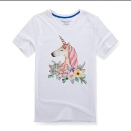 Wholesale Heat Transfers T Shirts Wholesale - Flower Patches For Clothing Cute Cartoon Unicorn Patch T-shirt Dresses Sweater Washable Heat Transfer Applique