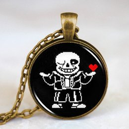 Wholesale Toys For Mens - Undertale Sans 2 Game Gaming Men Handmade Fashion Necklace brass silver Pendant steampunk Jewelry Gift women new chain toy mens for Christma