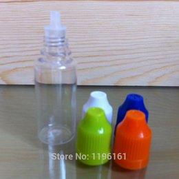 Wholesale Short Plastic Bottles - 2500pcs 10ml plastic dropper bottle with childproof cap,10ml PET E-liquid bottle with Short tip