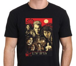 Wholesale Lost Shirt - T Shirt Good Quality T Shirt Tops Short Sleeve Printed Crew Neck Mens New The Lost Boys 80S Horror Movie