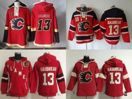 Wholesale Hoodies Sweatshirts Free Shipping - Factory Outlet, Mens Womens Ice Hockey Sweatshirts Calgary Flames Jersey #13 Johnny Gaudreau Red Hoodies,Free shipping.