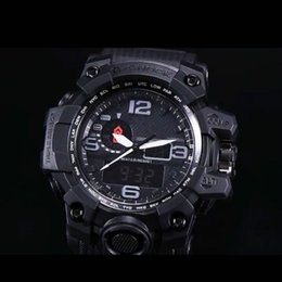 Wholesale Sport Watches Running - AAA Multi-function running waterproof sports watch ga100 G Black Display LED Fashion army military shock watches men Casual G Watches