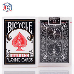 Wholesale Decks Bicycles - 1pcs Bicycle Classic Black Deck Magic Cards Playing Card Poker Close Up Stage Magic Tricks for Professional Magician Free Shipping