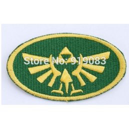 """Wholesale Family Crests - 3.5"""" THE LEGEND OF ZELDA VIDEO GAME Patch Family Crest Embroidered Iron on Badge Movie cosplay Halloween Costume"""