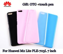 Wholesale tablet pc rubber protective case - Wholesale-2016 New Silicone Rubber Case For Huawei M2 Lite PLE-703L 7'' Tablet PC Protective Shell Skin PLE-703L Silicone Rubber Case